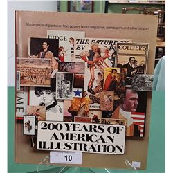 200 YEARS OF AMERICAN ILLUSTRATION HARD COVER BOOK,