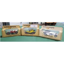 3 MODELS OF YESTERYEAR DIE CAST CARS