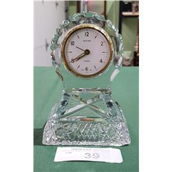 VINTAGE ALPINE CRYSTAL WIND UP CLOCK