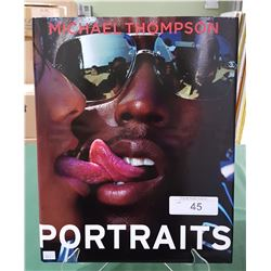 PORTRAITS BY MICHAEL THOMPSON HARDCOVER BOOK