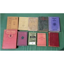 10 ANTIQUE & VINTAGE BOOKS