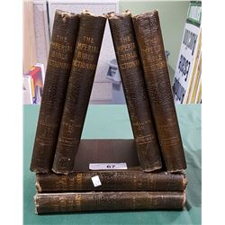 "SET OF 6 ""THE IMPERIAL BIBLE DICTIONARY"" HARDCOVER BOOKS"