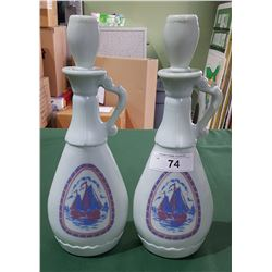 2 GLASS DECANTERS