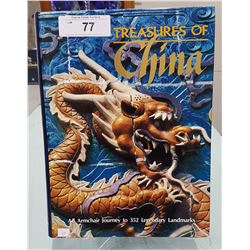 TREASURES OF CHINA HARDCOVER BOOK