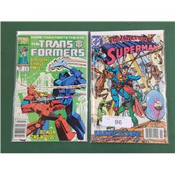 THE ADVENTURES OF SUPERMAN NOV. '89 & THE TRANSFORMERS 19 JULY