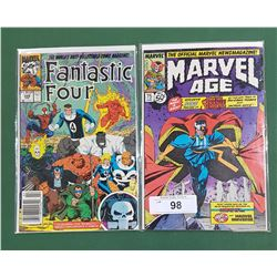 MARVEL AGE #75 JUNE 50 CENT COMIC & FANTASTIC FOUR #349 FEB