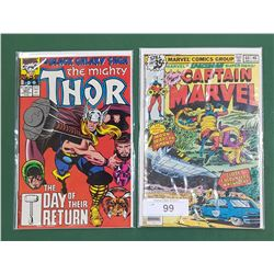 CAPTAIN MARVEL #60 JAN 35 CENT COMIC & THOR $423 SEPT COMIC
