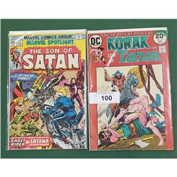 KORAK SON OF TARZAN 20 CENT COMIC #55 JAN & THE SON OF SATAN 25 CENT COMIC