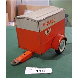 VINTAGE U-HAUL TIN TOY TRAILER 1960'S