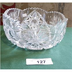 BRILLIANT CUT PINWHEEL CRYSTAL BOWL