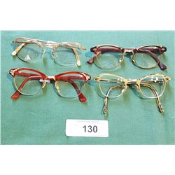 4 PAIRS VINTAGE LADIES CAT-EYE GLASSES