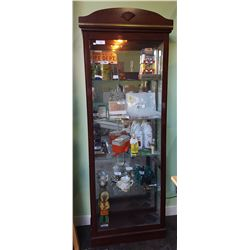 DISPLAY CABINET W/SHELL DESIGN