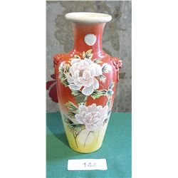 ANTIQUE ASIAN HANDPAINTED PORCELAIN VASE