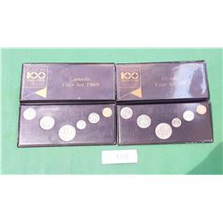 2 EATON 100 YEAR 1869-1969 COIN SETS UNCIRCULATED