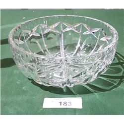 BEAUTIFUL CRYSTAL BOWL IN OLIVE & CROSS PATTERN