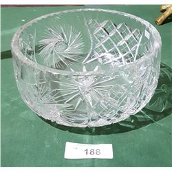 LARGE PINWHEEL CRYSTAL BOWL