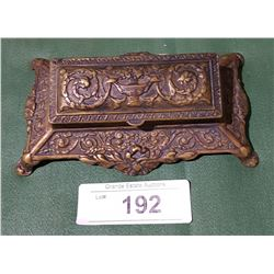 ANTIQUE BRONZE INKWELL
