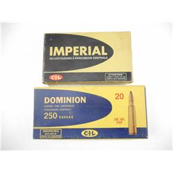 ASSORTED CIL 250 SAVAGE AMMO