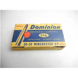 DOMINION 30-30 WINCEHSTER AMMO