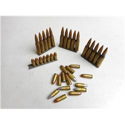 ASSORTED 308 & 9MM AMMO ON STRIPPER CLIPS