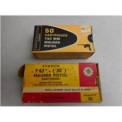 ASSORTED 7.63MM MAUSER AMMO