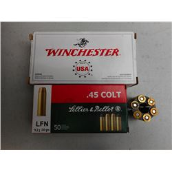 ASSORTED 45 COLT/ AUTO AMMO