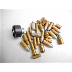 ASSORTED MILITARY & CENTERFIRE AMMO & SPEED LOADER