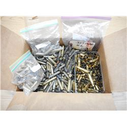 BOX OF ASSORTED PISTOL & RIFLE BRASS