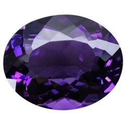 10.06CT AAA Natural Purple Amethyst Gems Oval Faceted Cut 14x10MM VVS Loose Gems