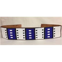 Apache Beaded Leather Belt