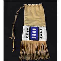 Leather Beaded Pouch - Apache