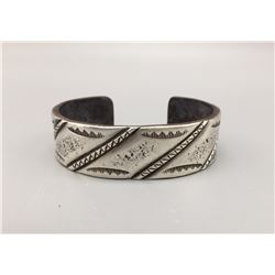 Hand Forged, Coin Silver Cuff Bracelet