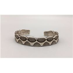 Deeply Stamped Sterling Silver Bracelet