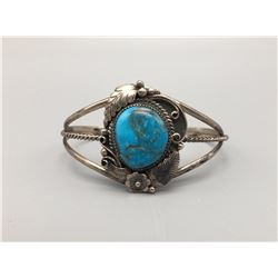 Vintage Turquoise and Sterling Bracelet