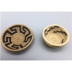 "2 Horse Hair ""Design"" Baskets"