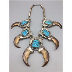 Vintage Bear Claw STATEMENT Necklace (Item Featured on WTP TV)