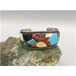 Multi-Stone Inlay Bracelet - Spencer