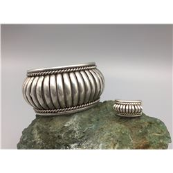 Unique Sterling Bracelet and Ring