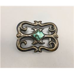 Turquoise and Sandcast Buckle
