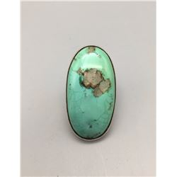 Large Turquoise, Sterling Silver Ring