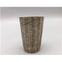 Unique Miniture Sterling Silver Basket