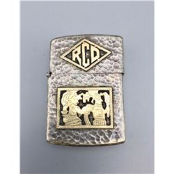 Hammered Coin Silver Lighter Cover