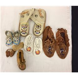 Group of Misc. Beaded Moccasins