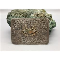 Sterling Silver and Gold Handmade Buckle