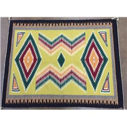 Vintage Colorful, Busy Pattern Navajo Textile