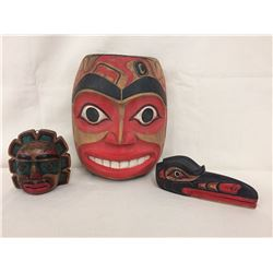 Group Northwest Coast Carvings