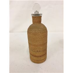 Antique Alaskan Basketry Bottle