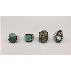 Group of 4 Vintage Rings