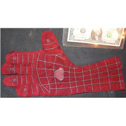 AMAZING SPIDER-MAN PRODUCTION USED SUIT GLOVE WITH PALM WEBB SLINGER ONLY ONE EVER OFFERED!