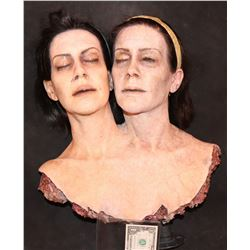 AMERICAN HORROR STORY FREAK SHOW CONJOINED TWINS SCREEN MATCHED HERO SEVERED HEADS